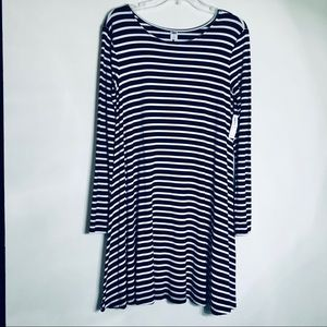 NWT Old Navy | Long Sleeve Striped Swing Dress